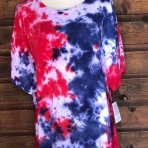 Lularoe American Dreams tie dye 3xl